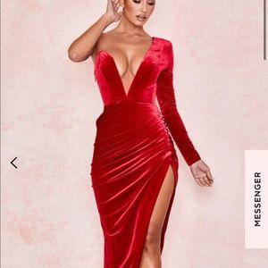 House of CB Allegra Deep Plunge Maxi Dress